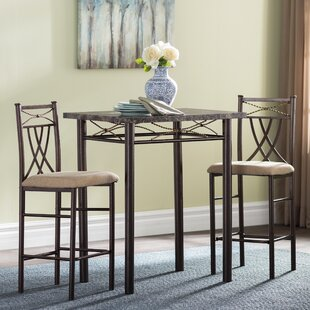Cincinnati 3 Piece Dining Set by Andover Mills Amazing