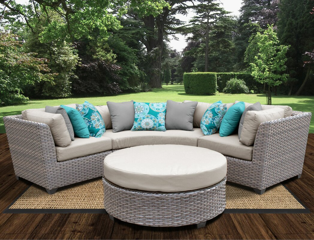 Sol 72 Outdoor Merlyn 4 Piece Sectional Seating Group with Cushions