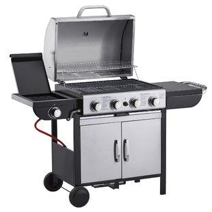 58cm Prevost 4-Burner Liquid Propane Barbecue Grill By Symple Stuff