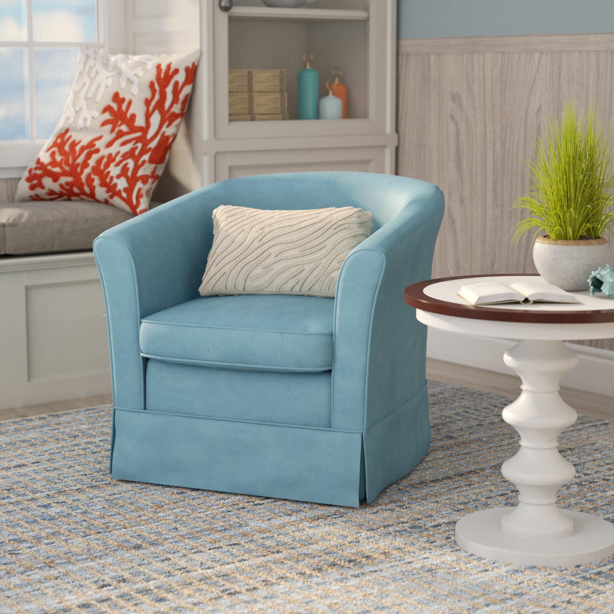 Laurel Foundry Modern Farmhouse Sevan Swivel Barrel Chair U0026 Reviews |  Wayfair