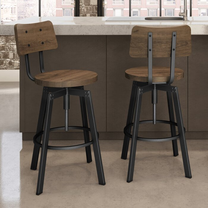 Brilliant Karly Adjustable Height Bar Stool Pabps2019 Chair Design Images Pabps2019Com