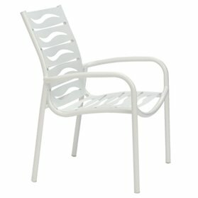 Millennia Stacking Patio Dining Chair with Cushion