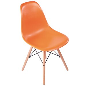 Plastic Molded Solid Wood Dining Chair by PoliVaz