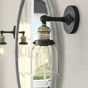 Carley Heavy Duty 1-Light Armed Sconce By Trent Austin Design Wall Lights
