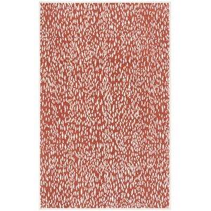 Melinda Hand Tufted Red Area Rug