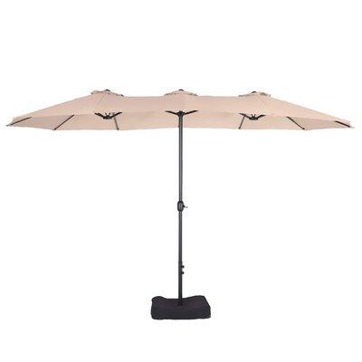 Malinda 15 X 9 Rectangular Market Umbrella by Freeport Park Top Reviews