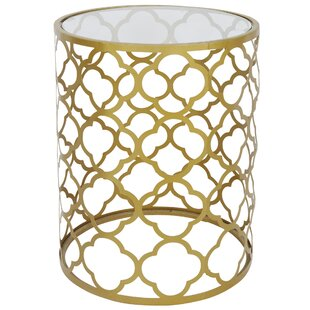 Jewett Quatrefoil End Table