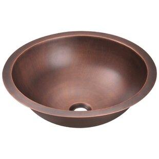MR Direct Copper Circular Dual Mount Bathroom Sink