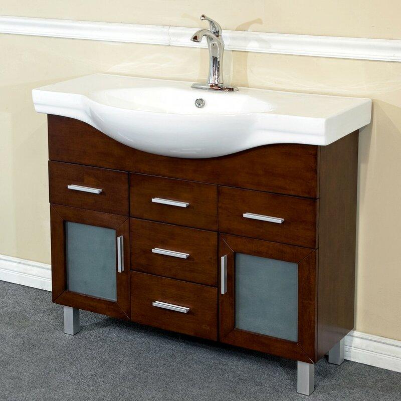 Bellaterra Home 40 Single Bathroom Vanity Set Reviews Wayfair