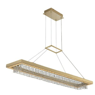 Everly Quinn Mears 8 Light Kitchen Island Linear Pendant X113044669 Finish Old Bronze Shefinds