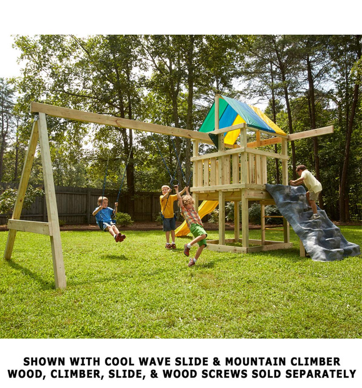 Wood Swing Set Kit Made in USA Bay Swings Swing Set Brackets DIY Swing Set Hardware Kit Swing Frame