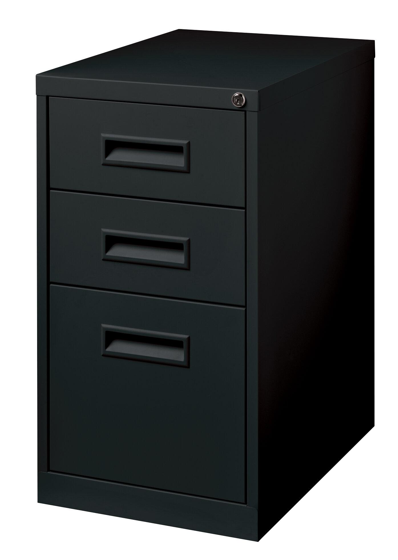 Commclad 3 Drawer Mobile Vertical Filing Cabinet Reviews Wayfair