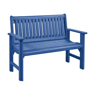Alanna Plastic Garden Bench Color: Blue by Beachcrest Home