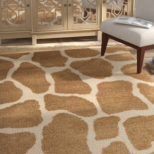 Check Prices Dorthy Beige & Brown Area Rug By Bloomsbury Market