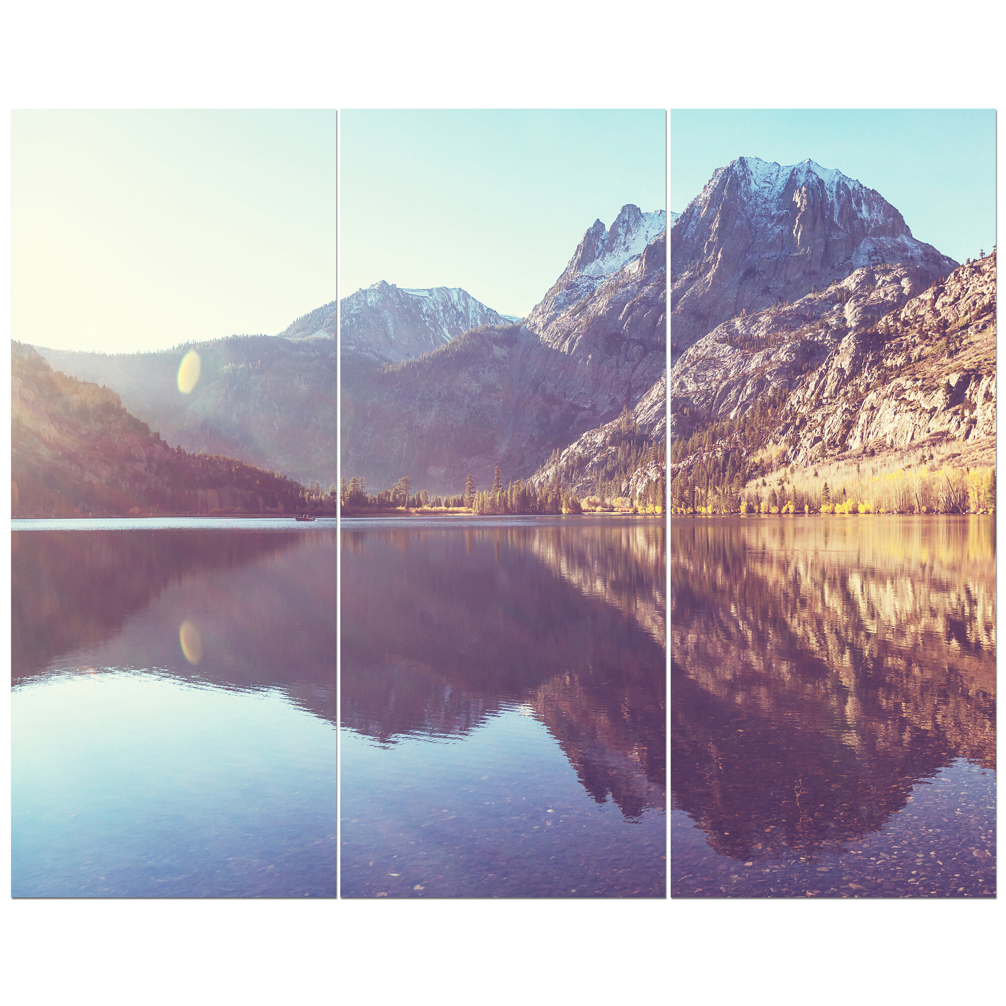 East Urban Home Lake View In Sierra Nevada Mountains Photographic Print Multi Piece Image On Wrapped Canvas Wayfair