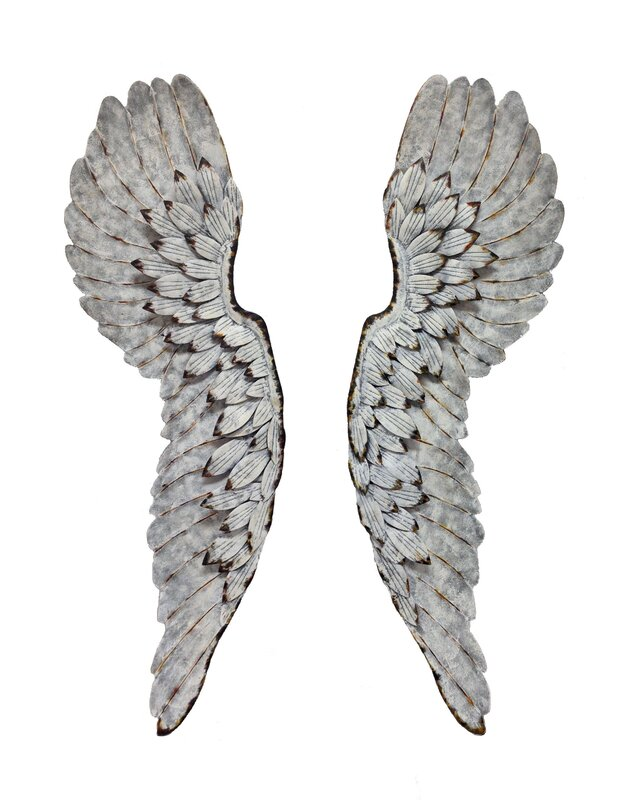 Wings Wall Decor wilco home metal angel wings wall décor & reviews | wayfair