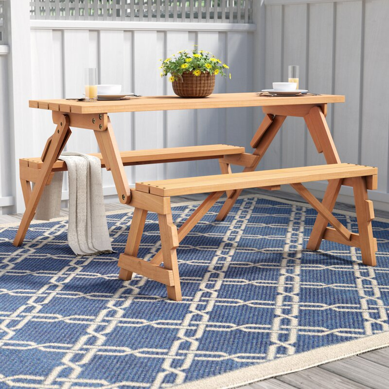 Exceptionnel Andres Folding Picnic Table And Bench