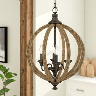 Gracie Oaks Georgianna 4-Light Globe Chandelier