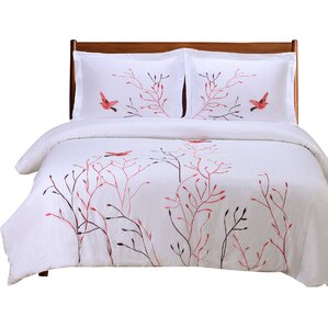 swallow 100 cotton 3 piece duvet set