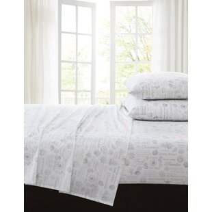 Brence 200 Thread Count 100% Cotton Sheet Set ByHighland Dunes