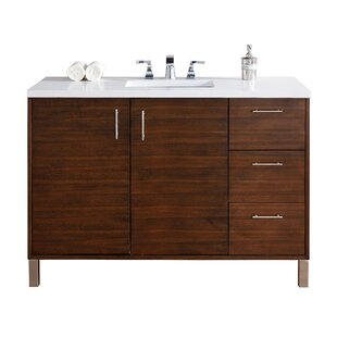 Cordie 48 Single American Walnut Birch Base Bathroom Vanity Set by Orren Ellis