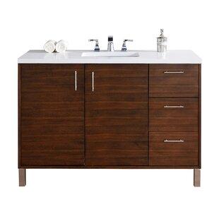Cordie Modern 48 Single American Walnut Hardwood Base Bathroom Vanity Set by Orren Ellis