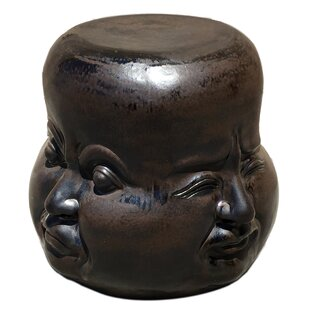 Four Face Accent Stool by Asian Art Imports