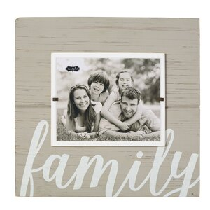 gray painted wood family pictured frame by mud pie - Mud Pie Picture Frames