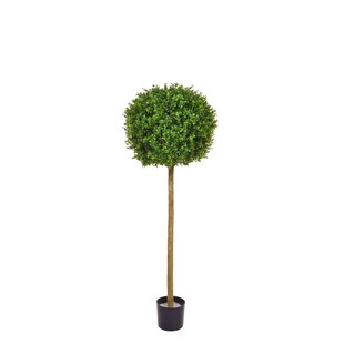 Artificial Buxus Single Ball Tree Boxwood Topiary In Planter Image
