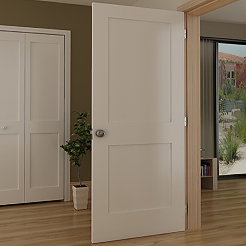 Shaker 2 Panel Wood Slab Interior Door