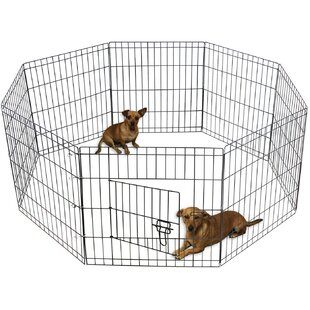 metal wire 8-panel folding exercise pet pen