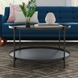 Higuchi Coffee Table with Tray Top by Mercury Row®