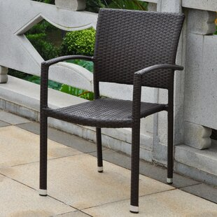 Katzer Stacking Patio Dining Chair (Set of 4)