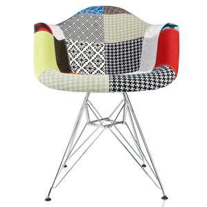 Rapier Patchwork Fabric Upholstered Armchair..