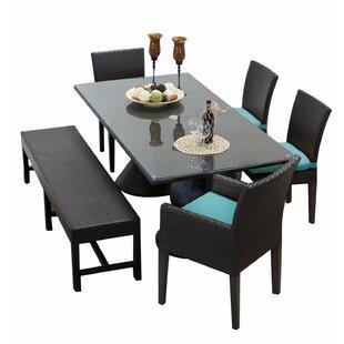 TK Classics Napa 6 Piece Dining Set with Cushions