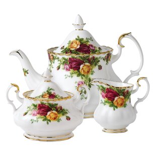 Old Country Roses 3 Piece Teapot Set