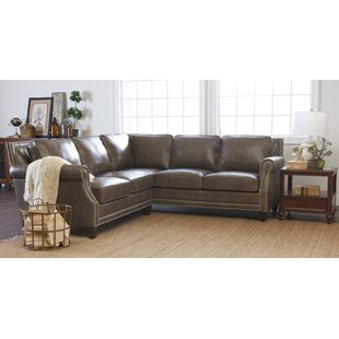 Mcrae Leather Sectional by Canora Grey