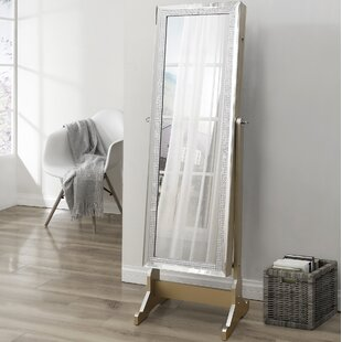 House of Hampton Nehls Full Length Jewelry Armoire with Mirror