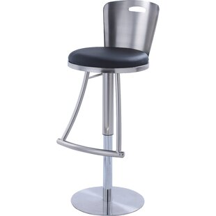Jenele Adjustable Height Swivel Bar Stool by Orren Ellis Modernt