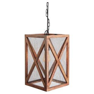 Tobiah Wood 1-Light Rectangle Pendant