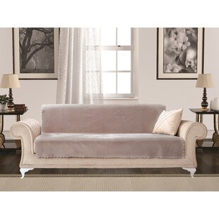 Diamond Box Cushion Sofa Slipcover by Charlton Home