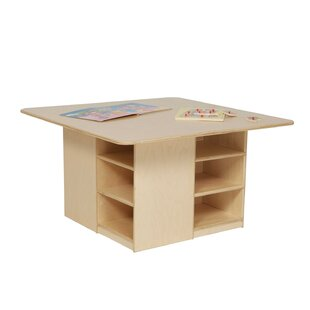 Cubbie Table with Twelve Trays by Wood Designs