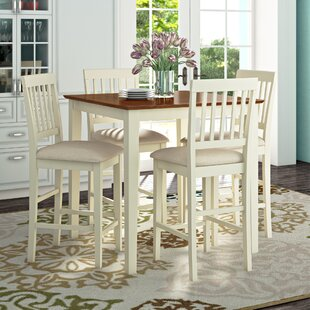 Givens 5 Piece Counter Height Pub Table Set