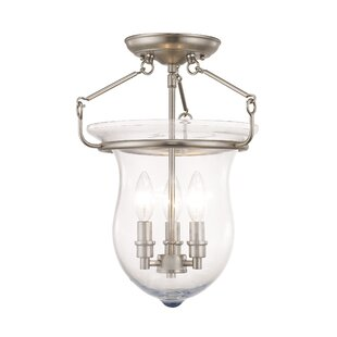 Brentwood 3-Light Semi Flush M..
