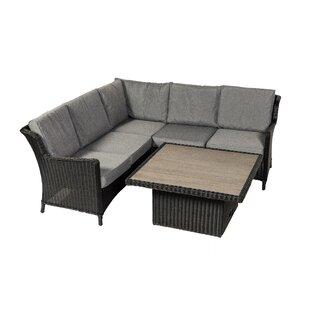 Kalil 5 Seater Rattan Corner Sofa Set Image