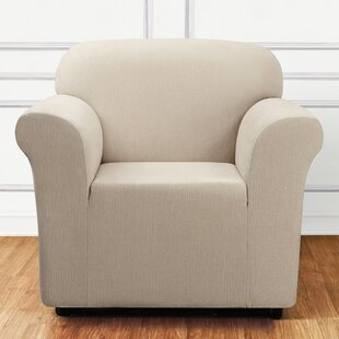 Ultimate Stretch Chenille Box Cushion Armchair Slipcover