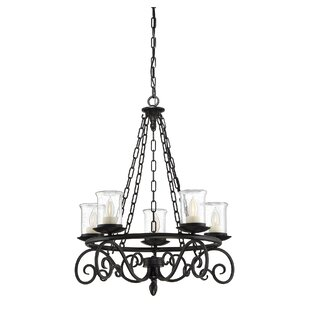 Biloxi 5-Light Wagon Wheel Chandelier