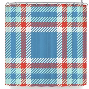 East Urban Home Kess Original Sky and Plaid Shower Curtain