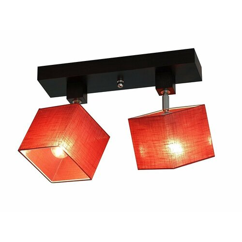Partee 2 Light Ceiling Spotlight Brayden Studio Shade Colour: Clear red