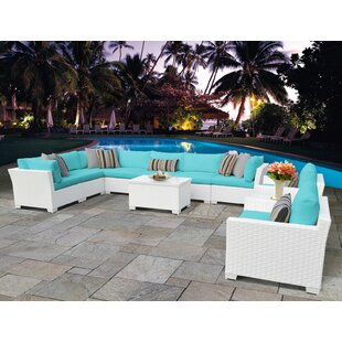 Monaco 11 Piece Sectional Seating Group with Cushions